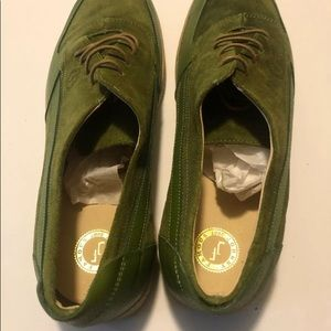 Johnny Famous Suede Green Shoes Like Bally Siesta